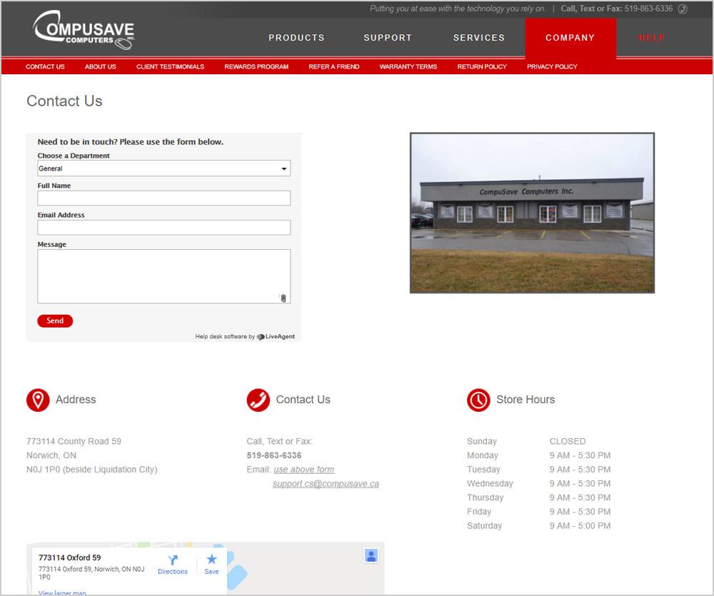 Compusave webpage