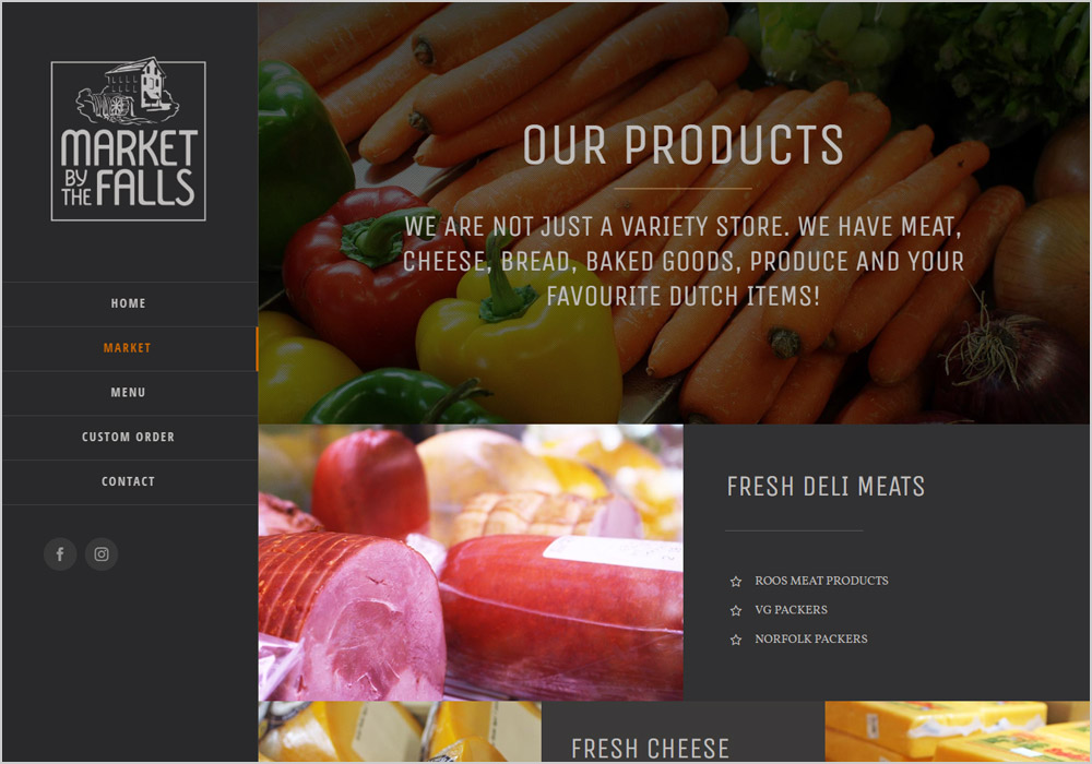 Market By The Falls webpage