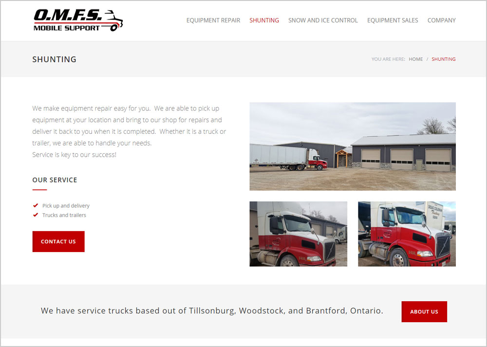 Oxford Mobile Fleet Service webpage