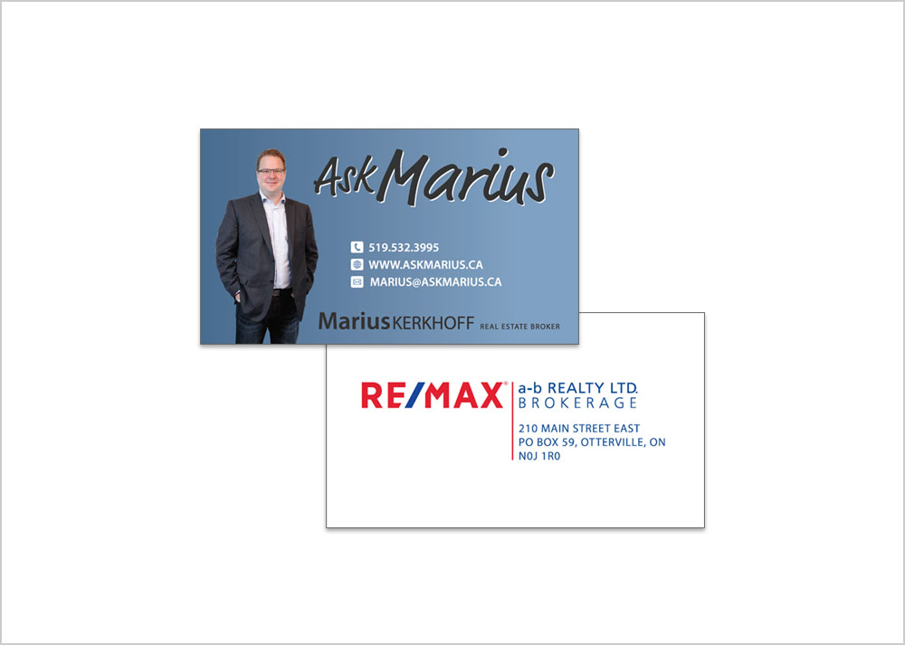 Ask Marius business cards