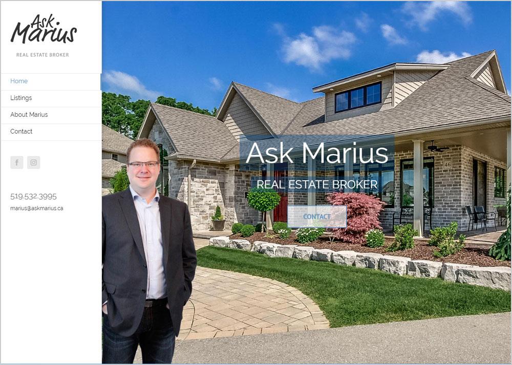 Ask Marius webpage