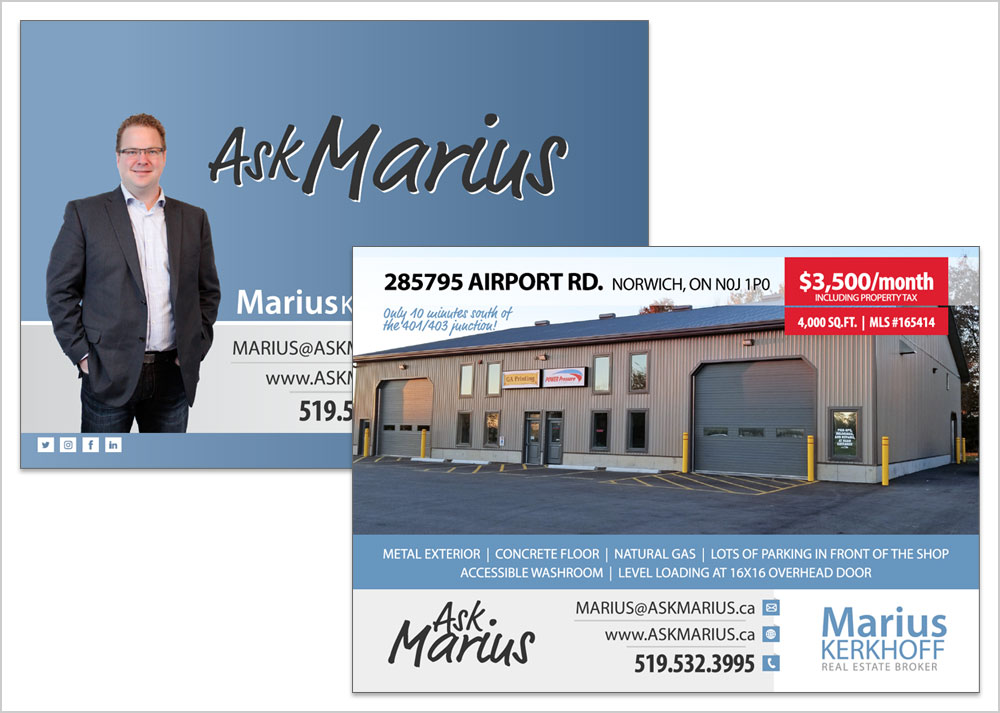 Ask Marius postcard